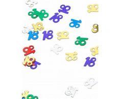 Confezione di coriandoli colorati 18 anni