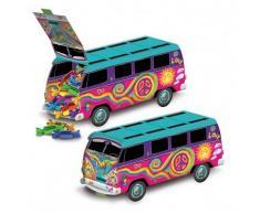 Centrotavola da montare autobus multicolor anni '60