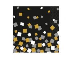 16 tovaglioli di carta coriandoli oro e argento