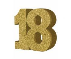 Decorazione color oro da tavola 18 anni 20x20 cm