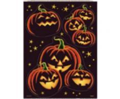 3 Adesivi per finestre zucche scure Halloween