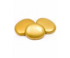 10 segnaposto sassolini in vetro dorati