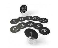12 segnaposto rotondi neri 12,7 cm
