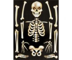 Adesivi scheletro Halloween per finestre