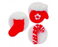 6 decorazioni di zucchero natalizie
