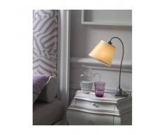Illuminando Abat-jour il-soft e27 53w paralume pergamena metallo lampada lettura moderna