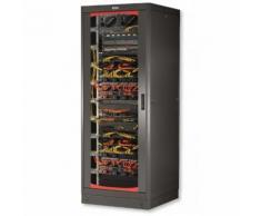 "Armadio Server Rack 19"" 600x1000 27 Unita' Nero serie Lite Intellinet I-CASE SVR-27LTBL"