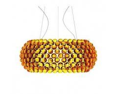 Foscarini lampada a sospensione CABOCHE GRANDE a LED (Giallo oro - Vetro soffiato e metallo cromato)