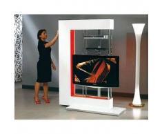MUNARI parete attrezzata per TV NEXT07 (Bianco - MDF/Cristallo)