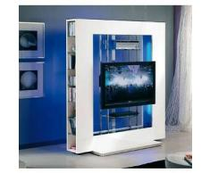MUNARI parete attrezzata per TV NEXT08BI (Bianco - MDF/Cristallo)