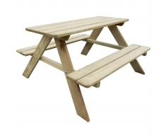vidaXL Tavolo da picnic per bambini in legno 89 x 89,6 50,8 cm