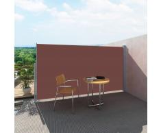 vidaXL Patio Laterale Retrattile Protezione Tenda da Sole 180 x 300cm Marrone