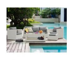 Arredo giardino in rattan bianco - Salotto da giardino - Divani da esterno - ROMA