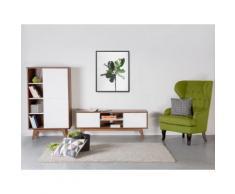 Mobile TV con antine in legno color noce e cassetti - ROCHESTER