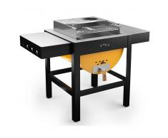 toto Barbecue A Legna Carbonella Con Griglia 60x30cm Toto Grill Giallo