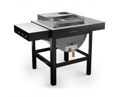 toto Barbecue A Legna Carbonella Con Griglia 60x30cm Toto Grill Grigio