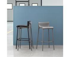 Duca Outdoor, sgabello impilabile con gambe alluminio e seduta in polipropilene, per esterni ed interni