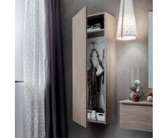 Stella elemento pensile per il bagno e l'ingresso con anta in varie finiture legno La Primavera