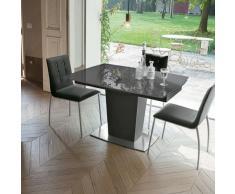 Tavolo con piano vetro allungabile COPERNICO