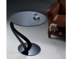 TAVOLINO SWAN tavolino multifunzioni con piano in vetro temperato acidato 10 mm e basamento in acciaio verniciato