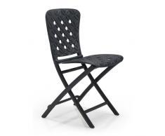 Zac Spring, sedia pieghevole in polipropilene per esterni ed interni