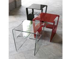 Tavolino in vetro Proteo