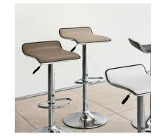 Sgabello GOTEBORG SG cromato con seduta ergonomica ecopelle