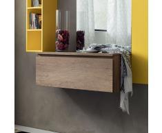 Stella elemento pensile con cassetto per il bagno e l'ingresso o living in varie finiture legno La Primavera