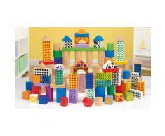 Set 100 blocchi giocattolo in legno