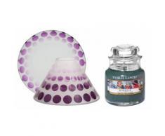 Candela, paralume e piccolo vassoio: Purple Scroll e Bundle Up