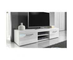 Mobile porta TV Mambo 140 cm - Bianco/Bianco lucido