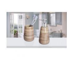 Kit di oggetti per il bagno Wenko: Distributore e bicchiere Pottery