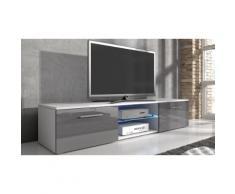 Mobile porta TV Samuel - 160 cm - Bianco e grigio