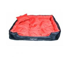 Cuccia letto poltrona XXL per cane 120 x 90 cm Rosso