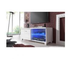 Mobile TV con LED 100 cm - Bianco
