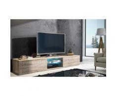 Mobile porta TV Elegant 1 - 140 cm - Quercia sonoma con LED