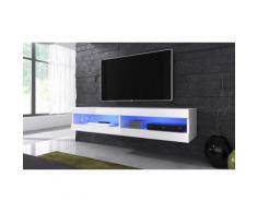 Mobile pensile per TV Volant con LED - Bianco