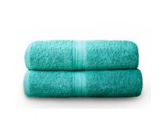 Set 2 asciugamani bagno Home Royal Kensington Hotel - Turchese