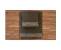 2x Set di 2 asciugamani in spugna - Fango