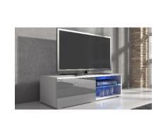 Mobile porta TV Samuel - 120 cm - Bianco/Grigio