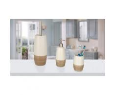 Dispenser per sapone 590 ml, bicchiere portaspazzolini, portascopino per WC