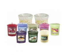 Candele e portacandele Yankee Candle: 2 candele Sunset Mosaic Votive Holders e 8 Classic Votives