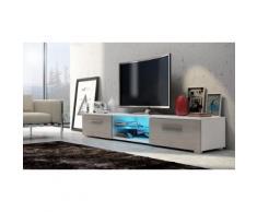 Mobile TV da salotto Edith - Bianco/Quercia