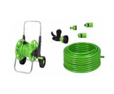 Tubo per irrigazione, carrello e sprinkler