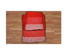 4x Asciugamani Berlino: Rosso
