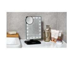 Specchio a LED per make-up: Nero
