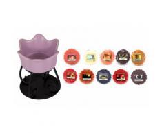 Candele e portacandele Yankee Candle: Candela Petal Bowl Melt Warmer Purple e 110 Wax Melts