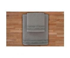 2x Set di 2 asciugamani in spugna - Perla