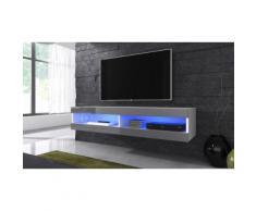 Mobile pensile per TV Volant con LED - Bianco/Grigio