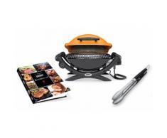 Set Weber composto da barbecue elettrico Q 1400, ricettario, termometro e pinze